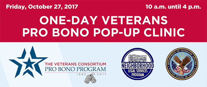 One-Day Pro Bono Week Pop-Up Clinic