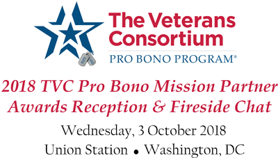 2018 TVC Pro Bono Mission Partner Awards Reception & Fireside Chat