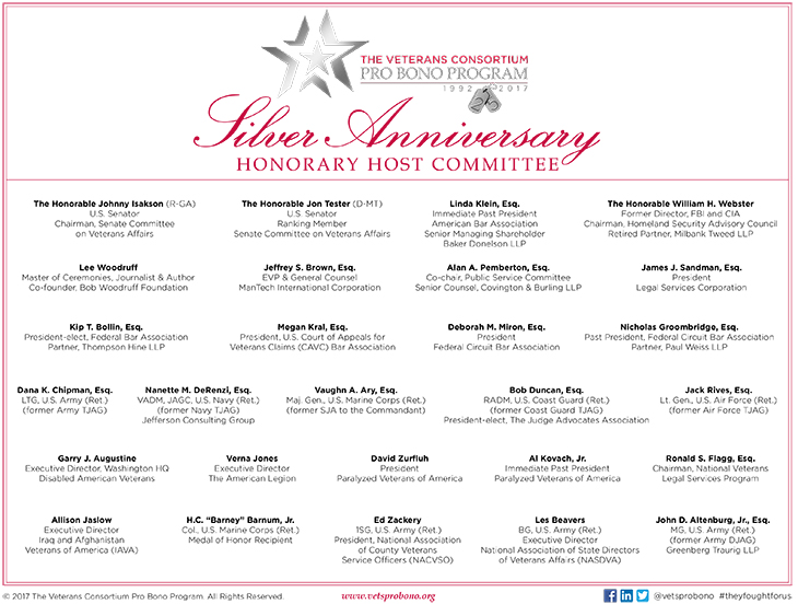Silver Anniversary Dinner & Awards Banquet Host Committee